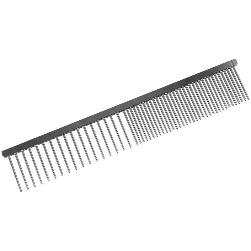 Peigne double denture - tout métal - 18 cm - Qualité professionnelle - chien - chat