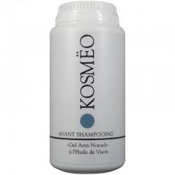 gel avant shampooing démêlant pour chient chat chiot chaton hypoallergénique à l'huile de vison kosmeo gel anti noeud